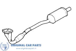 Opel Astra G 1.6, 1.8 16v voorpijp met katalysator