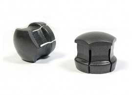 Volvo doppen voor standaard wielmoer (Tech Grey matt) (set van 20 stuks + pincet) 31660916