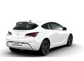 Opel Astra J GTC OPC-line achterbumperspoiler met verchroomde uitlaat