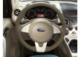 Ford-Ka-09-2008-05-2014-lederen-stuurwiel-leder-in-Dark-Florida-beige-met-rand-in-Pearl-White-1573438