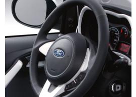 Ford-Ka-09-2008-05-2014-lederen-stuurwiel-zwart-leder-met-rand-in-Pearl-White-1573470
