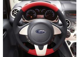 Ford-Ka-09-2008-2016-lederen-stuurwiel-zwart-rood-leder-met-rand-in-Pearl-White-1573500