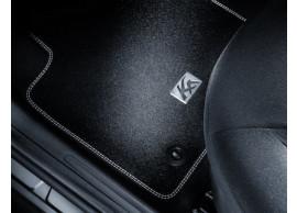 Ford-Ka-09-2008-09-2012-vloermatten-premium-velours-voor-zwart-met-zilver-dubbel-stiksel-1731725