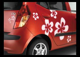 Hyundai i10 (2010 - 2014) stickers, flowers E86650X000