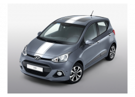 Hyundai i10 (2014 - 2017) stickers, wit racing stripes B9200ADE00WH