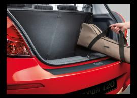 Hyundai i20 3-drs (2012 - 2015) achterbumper beschermfolie, zwart E86611J000