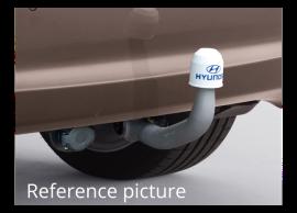 Hyundai i20 3-drs (2012 - 2015) trekhaak, verticaal afneembaar E61001J001