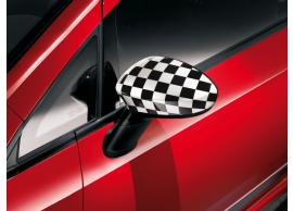 Fiat Punto buitenspiegelkappen zwart-wit geblokt 50902819