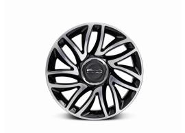 "Fiat 500L set lichtmetalen velgen 17"" dubbelspaaks matgepolijst zwart 50926885"
