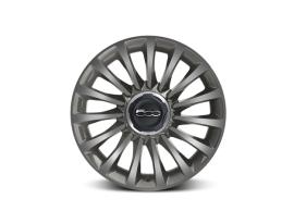 "Fiat 500L set lichtmetalen velgen 17"" ecoreflex diamantglans grijs 50926886"