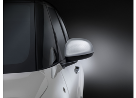 Fiat 500L spiegelkappen aluminium Techno-motief 50927037