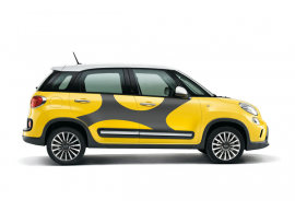 Fiat 500L stickerset 'elastiek' donkergrijs 50927155