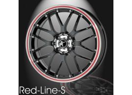 musketier-citroën-c1-peugeot-107-toyota-aygo-2005-2014-lichtmetalen-velg-red-line-s-6x15-zwart-rand-gepolijst-rode-rand-C14386B6