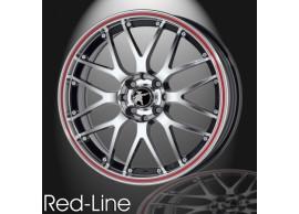 musketier-citroën-c3-lichtmetalen-velg-red-line-6x15-zwart-gepolijst-rode-rand-C3S34348BP6