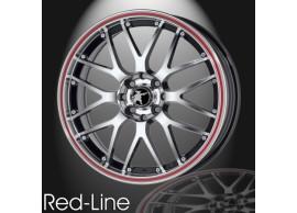 musketier-peugeot-206-lichtmetalen-velg-red-line-7x17-zwart-gepolijst-rode-rand-20645011BP