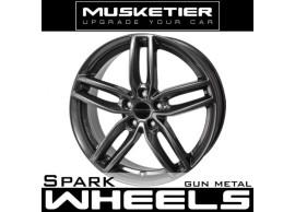 musketier-peugeot-308-2013-gti-lichtmetalen-velg-spark-8x19-gun-metal-308S3G9812GM