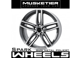 musketier-peugeot-4008-lichtmetalen-velg-spark-8x19-gun-metal-gepolijst-40089812GMP