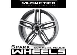 musketier-peugeot-407-lichtmetalen-velg-spark-8x18-gun-metal-gepolijst-4078828GMP