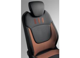 """Renault Captur stoelhoezen """"Zip collection"""" oranje 8201401360"""