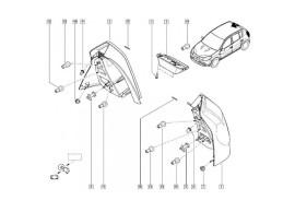 Dacia Sandero 2008 - 2012 achterlicht links 8200734825