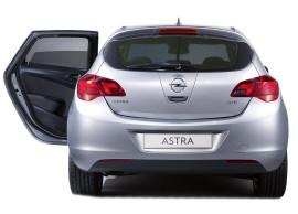 Opel Astra J GTC zonneschermen voor de achterruiten en achterruit