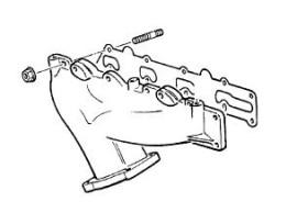 Opel uitlaatspruitstuk (X22XE / Y22SE / X20XEV / C20SEL / C18XE /C18XEL)