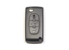 CIT107A Citroën klapsleutelbehuizing met 3 knoppen ZONDER batterij op de printplaat