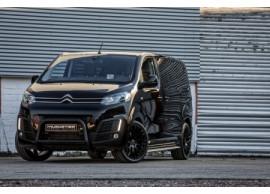 JUS40601B Musketier Citroën Jumpy / Peugeot Expert / Toyota ProAce 2016 - .. rvs-bullbar zwart Ø60 mm met EG-goedkeuring