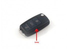 Volkswagen klapsleutelbehuizing met 3 knoppen (oud model)